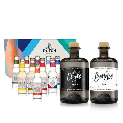 Personalised Twin Gin & Double Dutch Tonic Pack